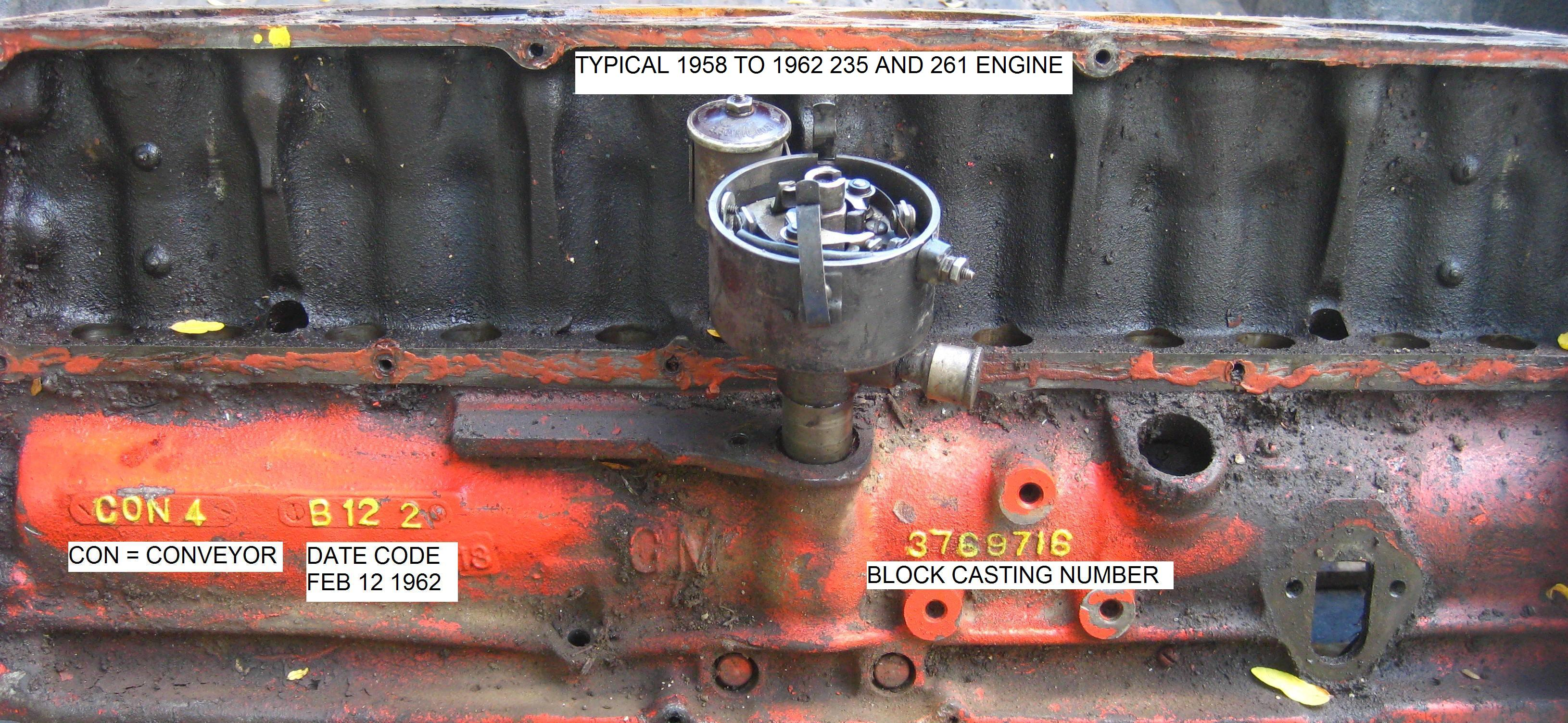 Chevy Six Cylinder Casting Numbers - The 1947 - Present